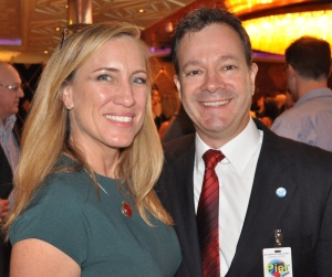 Jennifer Vandekreeke, Director Carnival Cruise Lines with Brett Jardine, GM CLIA